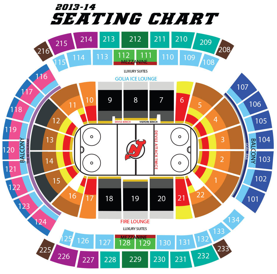 Nj devils seating chart elcho table