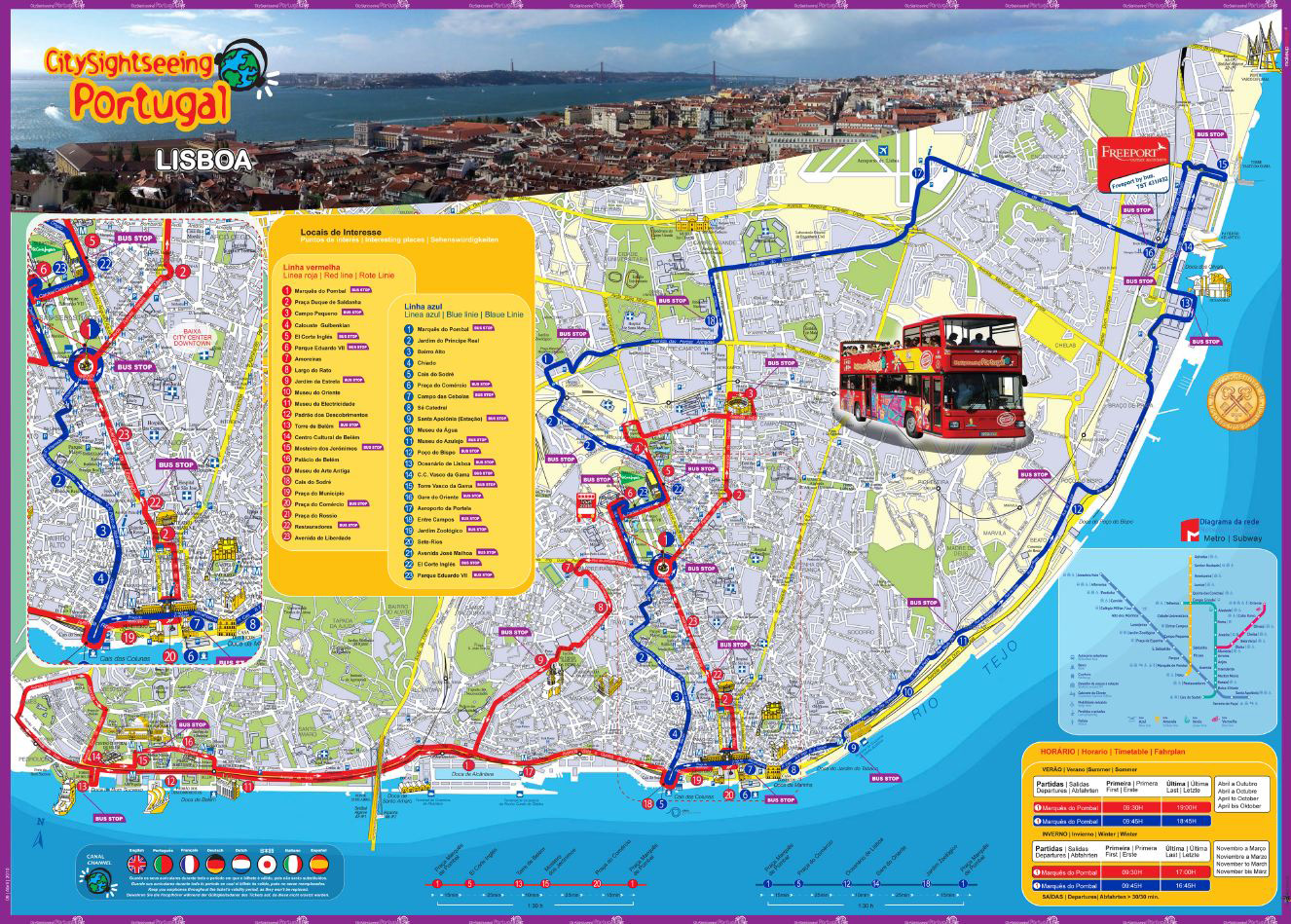 City Sightseeing Lisbon  Hrs Super Trips - Los angeles map sightseeing