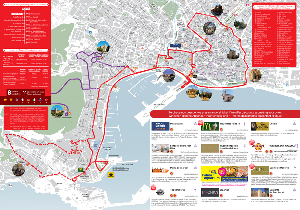 City Sightseeing Palma De Mallorca Hop On Hop Off Overview