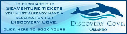 Discovery Cove Tickets bookable here